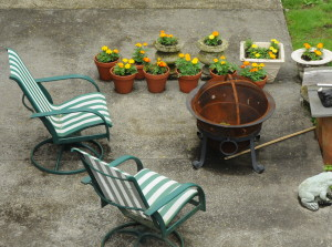 Andrew's Fire Pit and Garden