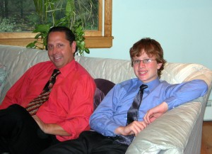 Andrew with Uncle Larry